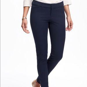Mid-Rise Pixie Full Length Pants Navy Size 6